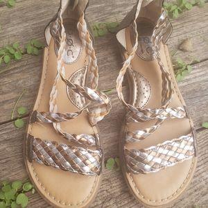 B.O.C 7.5 Braided Macedonia Metallic Color Sandal